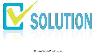concetto, testo, vettore, soluzione, affari