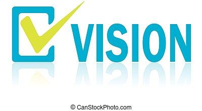 concetto, testo, vettore, visione, affari