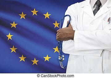 concetto, unione, nazionale, -, sistema, sanità, eu, europeo