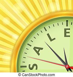 concetto, vendita, tempo