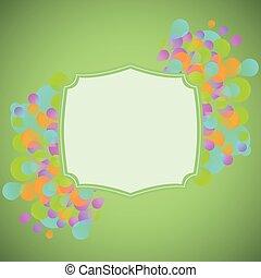 concetto, verde, fondo, celebrazione
