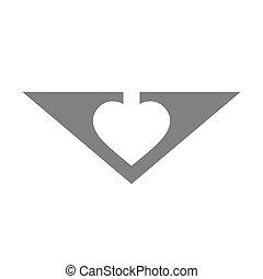 concetto, vettore, lettera, v, logotipo, icon.