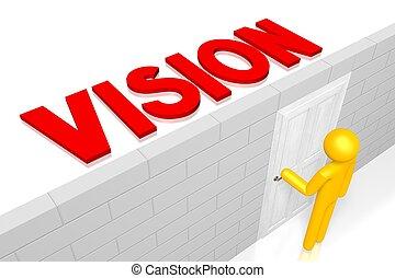 concetto, visione, 3d