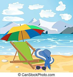 concetto, vocazione, viaggiare, spiaggia