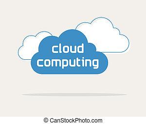 concetto, web, dati, nuvola, calcolare