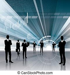 concettuale, affari, fondo