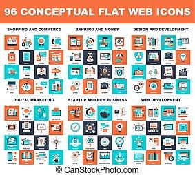 concettuale, appartamento, icone fotoricettore