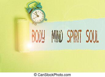 concettuale, corpo, affari, foto, scrittura, mano, personale, esposizione, spirito, stato, testo, soul., terapia, conciousness, mind., equilibrio, mente
