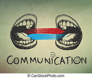 concettuale, fondo., astratto, comunicazione