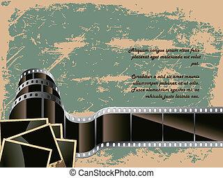 concettuale, foto, film, fondo