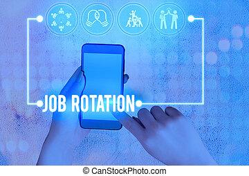 concettuale, foto, tasks., spostamento, scrittura, mano, pratica, fra, lavoro, rotation., differente, testo, affari, esposizione, personale