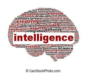 concettuale, intelligenza, simbolo