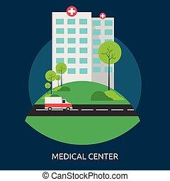 concettuale, medico, disegno, centro, illustrazione