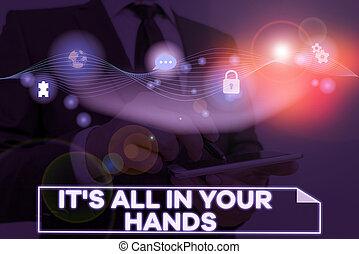concettuale, presa, affari, s, foto, esposizione, redine,...