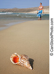 Conch and Woman