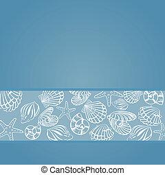 concha marina, tarjeta