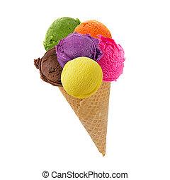 conchas, cone, sorvete