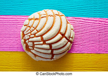 Conchas Mexican sweet bread traditional