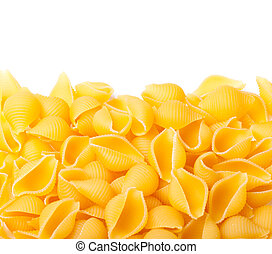 conchiglie pasta, isolated on a white background