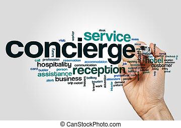 concierge, woord, wolk