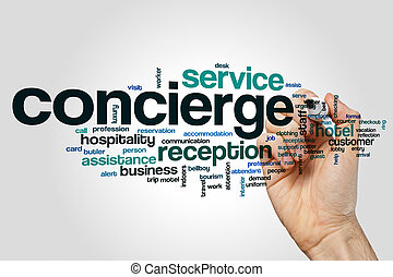 Concierge word cloud