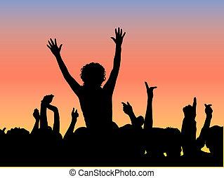 concierto al aire libre