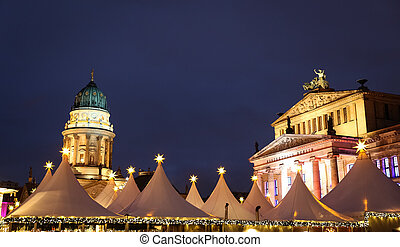concierto, alemán, berlín, alemania, iglesia, gendarmenmarkt, vestíbulo