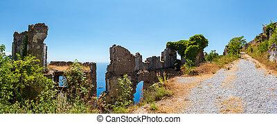 conciliatie, italy., ruïnes, origineel, maratea