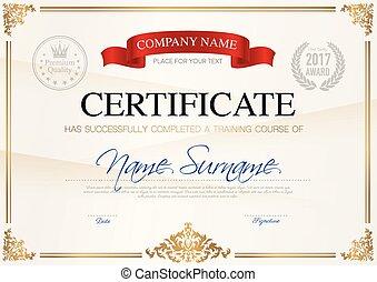 conclusão, certificado, modelo