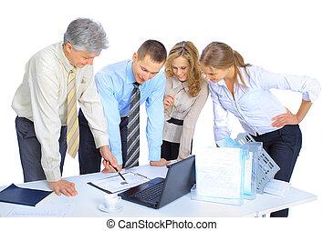 conclusio, zakenlieden, groep