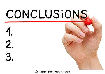 conclusions, 概念, リスト, 手書き, ブランク