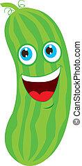 concombre, dessin animé