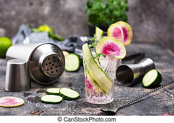 concombre, radis, cocktail