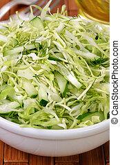 concombre, salade, salade chou