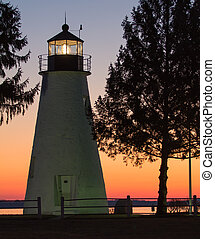 Concord Point (Havre de Grace) Lighthouse at Sunrise