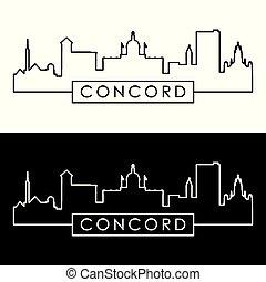 concorde, hampshire, skyline., nouveau