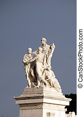 Concordia, Altare della Patria Venice Square, Rome, Italy - ...
