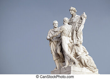 Concordia by Varese Ludovico Pogliaghi, pacification between the monarchy and the people. Altare della Patria Venice Square, Rome, Italy.