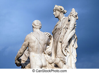 Concordia by Varese Ludovico Pogliaghi, pacification between the monarchy and the people. Altare della Patria, Rome.