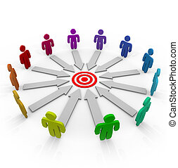 concorrenti, punteria, per, il, stesso, scopo