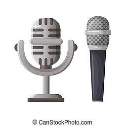 concorso, premio, microfono, musica, vincitore, argento