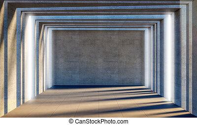 concrete 3d room