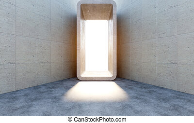 concrete abstract portal