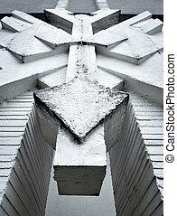 Concrete abstract sculpture