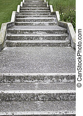 Concrete and stone stairs