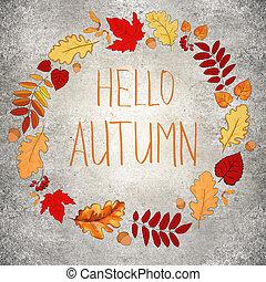 Concrete autumn background