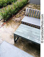 Concrete bench set
