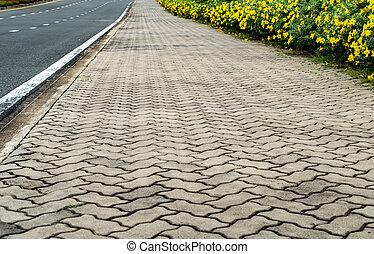 Concrete block Footpath