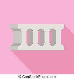 Concrete block icon, flat style