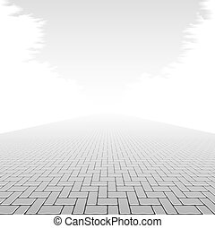 Concrete block pavement illustration